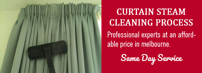 Curtain Steam Cleaning Process in Leopold